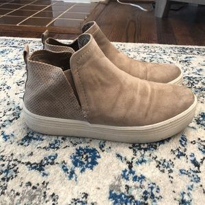 Shoes - High top slip on sneaker. WORN ONCE!